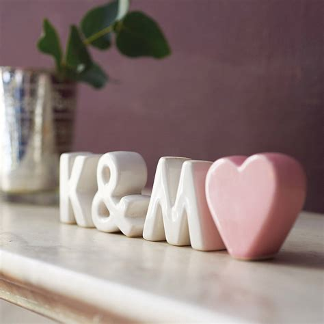 gifts to give to married couples personalised ceramic initials with by the gift studio notonthehighstreet