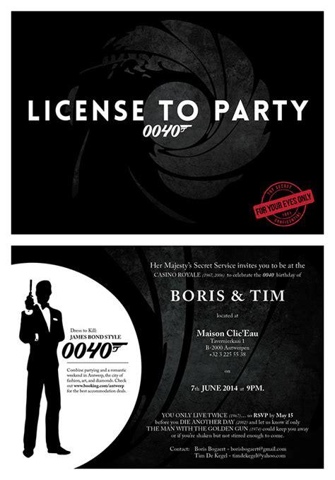 Bond Id Card Template by Bond Birthday Invitation On Behance