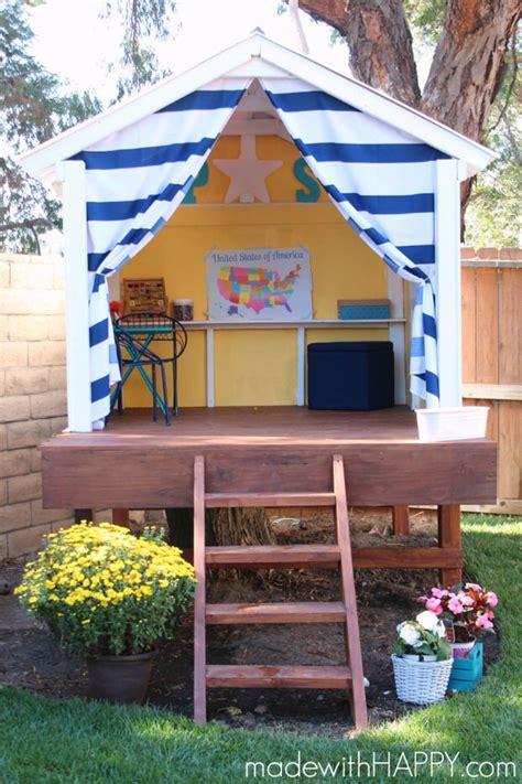 Build Backyard Playhouse by How To Build A Backyard Playhouse The Garden Glove