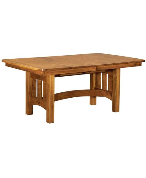 vancouver trestle dining table amish direct furniture