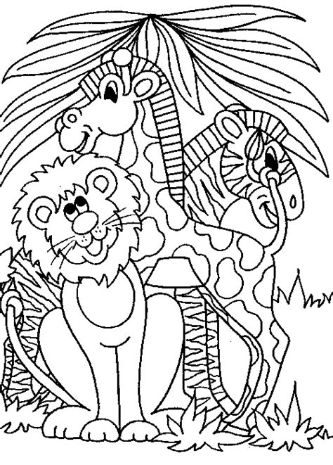 free coloring pages jungle theme lion zebra giraffe familycorner com 174