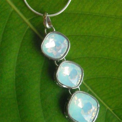 Buy white milky Opal pendant crystal sterling silver