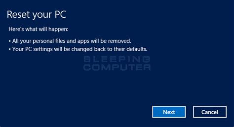 Windows Resetting Your Pc | how to perform a clean install of windows 8 using reset