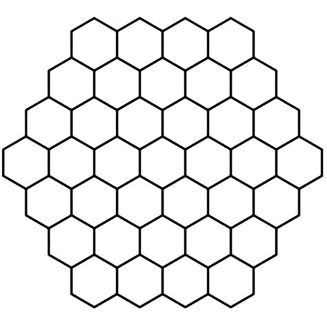 coloriage tessellation avec alv 233 oles hexagonales
