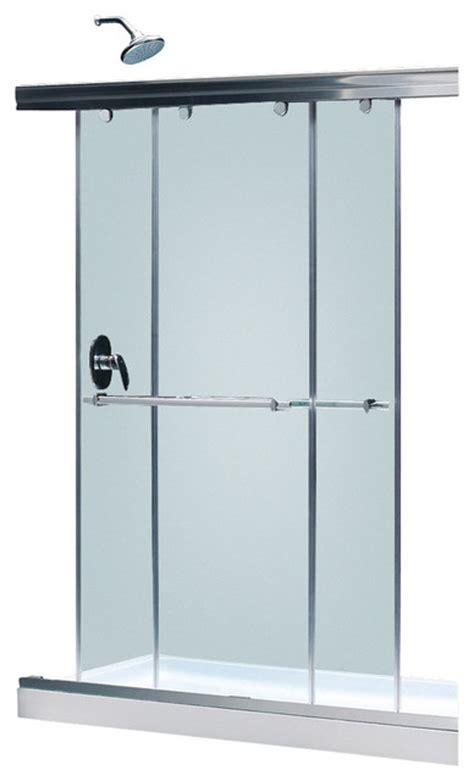 Sliding Bypass Shower Doors Charisma Frameless Bypass Sliding Shower Door 56 60 Quot W X 72 Quot H Chrome Modern Shower