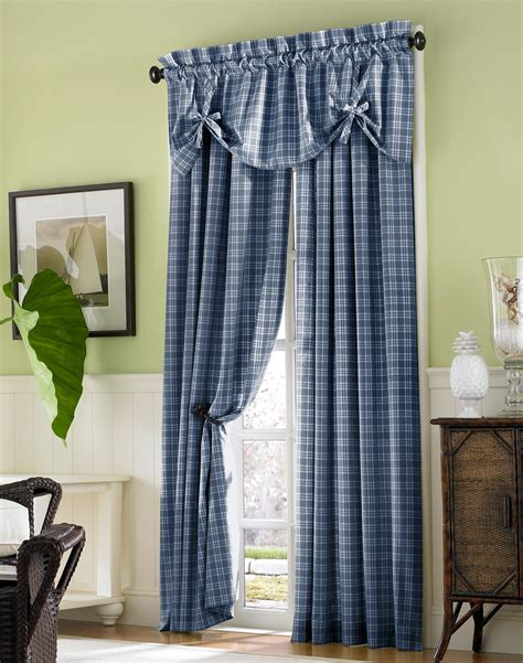 www country curtains com country plaid cotton tie up window valance curtainworks com