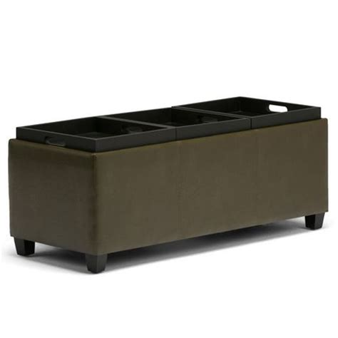 large storage ottoman with tray wyndenhall franklin extra large rectangular storage