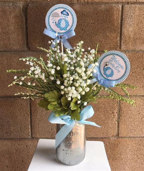 centerpieces for baby shower boy best 25 elephant centerpieces ideas on