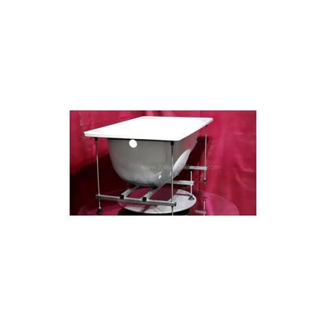 vasca 160x70 smavit vasca in acciaio con telaio 160x70 cm finitura