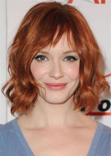 actress with short curly red hair 2015 fashionable celebrity hair color ideas hairstyle