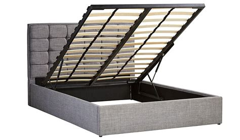 ottoman gas lift bed george home liam gas lift ottoman bed in light grey