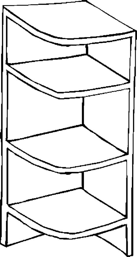 Shelf Coloring Pages free coloring pages of bookcase with books