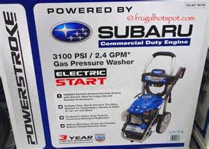 Costco Subaru Costco Sale Powerstroke Gas Pressure Washer With Subaru
