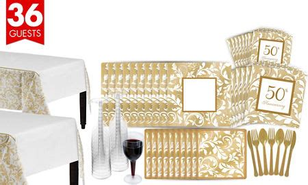 Wedding Anniversary Ideas In Hawaii by Golden 50th Wedding Anniversary Supplies 50th