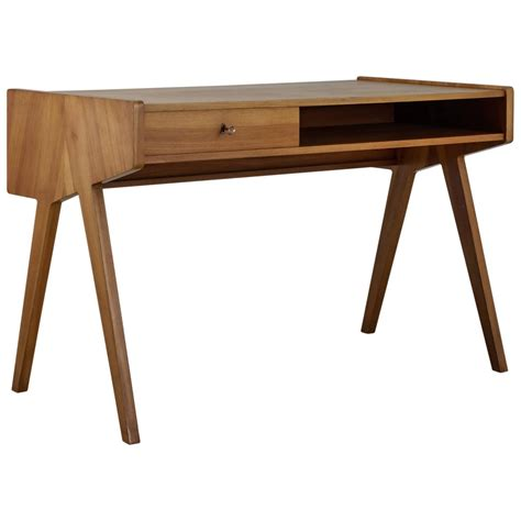 Small Wood Desk Cherry Home Office Furniture Natural