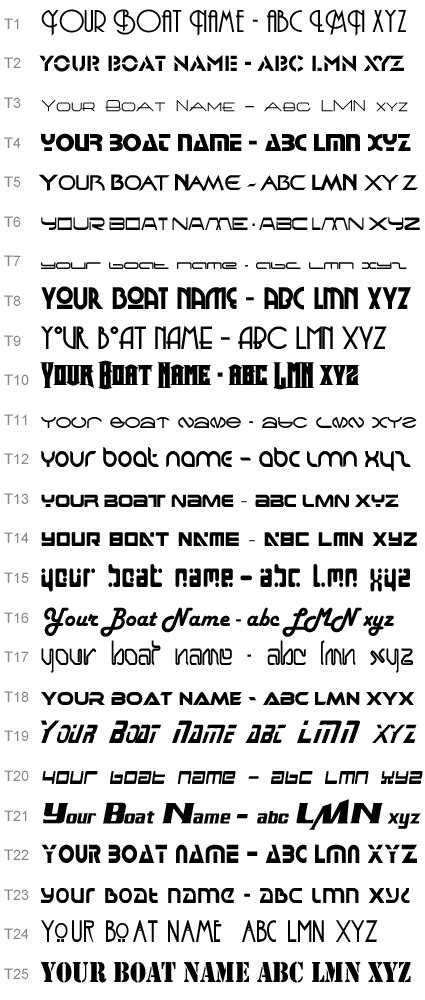 boat lettering ideas boat name and lettering fonts