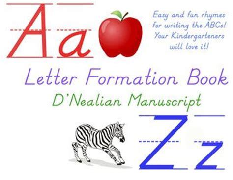 letter formation rhymes letter formation rhyme book d nealian abc poems book