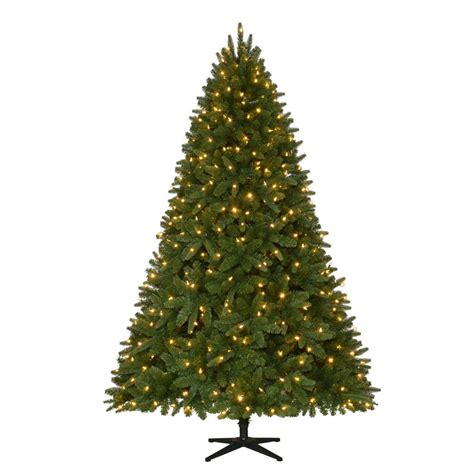 artificial christmas tree with led lights home accents holiday 7 5 ft quick set pre lit led sierra