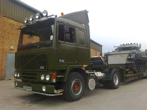 turreted fv432 volvo f10 and lowloader