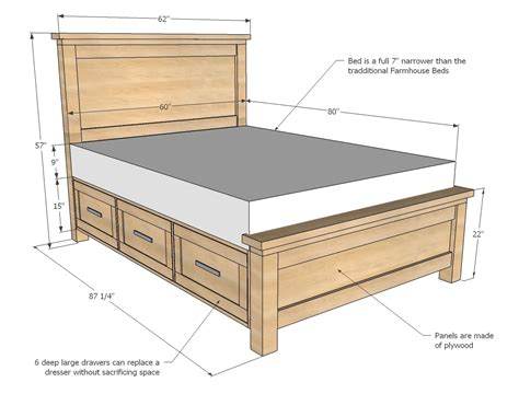 King Bed Frame With Drawers Underneath Plans Bed Frames Bed Frame With Drawers Underneath