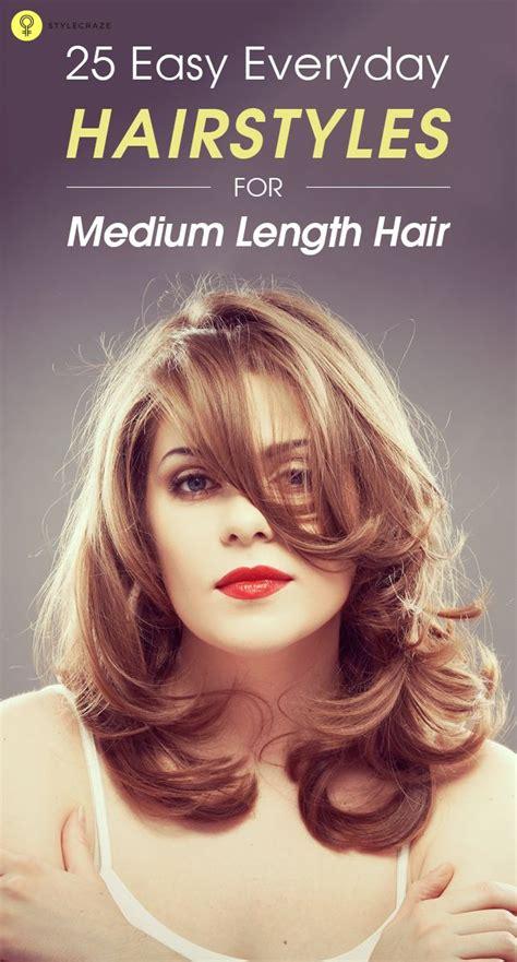 easy hairstyles for everyday zunaixa 25 easy everyday hairstyles for medium length hair ties