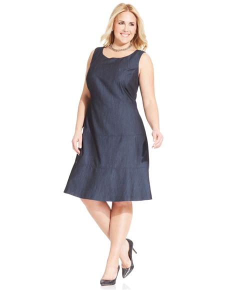 Dress Hodie New York lyst jones new york collection plus size sleeveless a line dress in blue