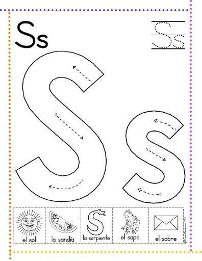 imagenes infantiles con la letra s caligraf 237 a letras r s t u v w x y z fichas de