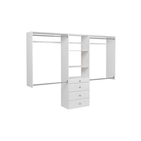 Martha Stewart Closet Organizer Home Depot by Martha Stewart Living 72 In H X 96 In W Classic White