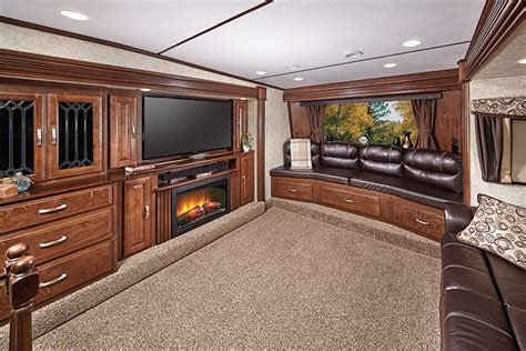 5th wheel with living room in front front living room 5th wheel floor plans milroy