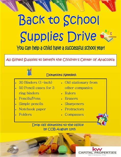 school supply drive flyer templates pin pizza party flyer template download image search
