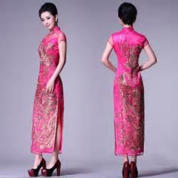 Phoenix long qipao embroidered chinese cheongsam dress modern qipao