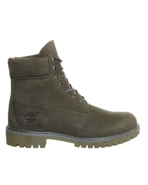 green timberland boots timberland 6 in buck boots in green for forest lyst