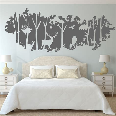 wall stickers murals forest wall sticker animal deer birds jungle mural