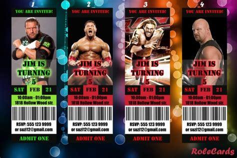 printable birthday cards wrestling wwe birthday invitations printable