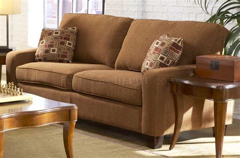 tan fabric sofa tan chenille contemporary sofa w cherry wooden legs