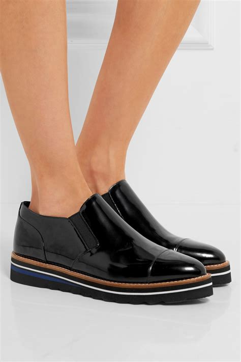Patent Platform Loafers vince alona patent leather platform loafers in black lyst