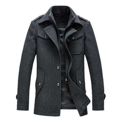 epaulet design jacket epaulet design wool blend faux twinset jacket in gray m