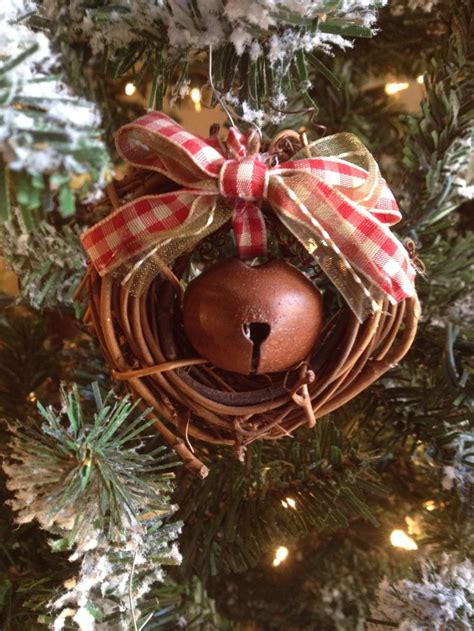 dollar tree small grapevine wreaths tie  rustic bell