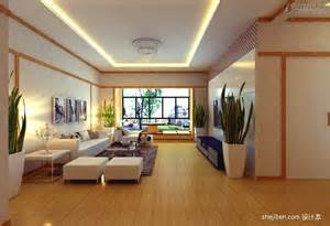Japanese style living room decoration effect living room
