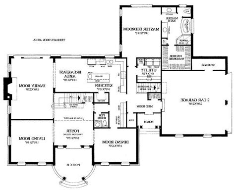 one story house plans large great room