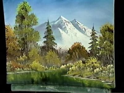 bob ross painting reflections a pen by grovejay