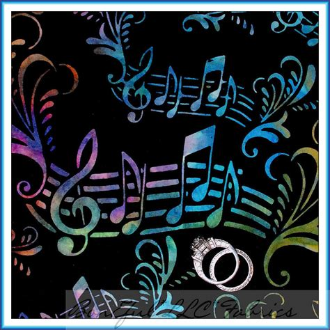 music upholstery fabric boneful fabric fq cotton quilt batik music black rainbow