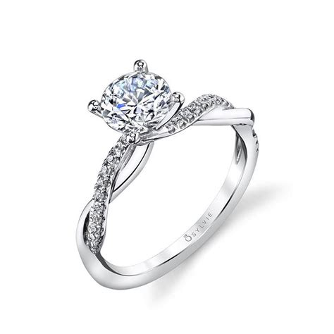 spiral engagement rings sylvie collection