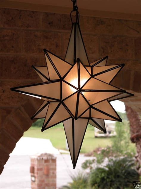 moravian 24 quot frosted glass star light l outdoor