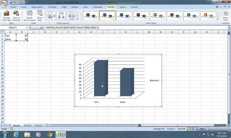2 4 construct ogive with excel youtube how to make excel 2007 chart bars wider youtube