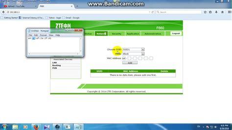 Wifi Zte F660 how to block someone on wifi ont zte f660