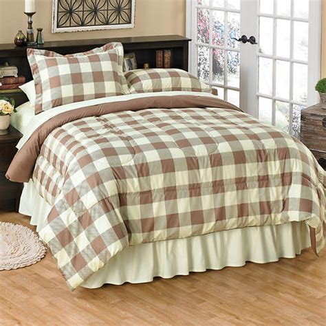 buffalo check comforter buffalo check comforter set taupe gallery
