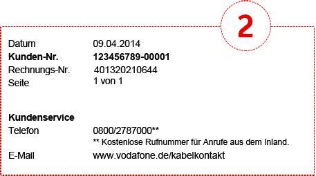 Beschwerdebrief Kabel Deutschland Muster Muster Erstrechnung Vodafone Kabel Deutschland Kundenportal