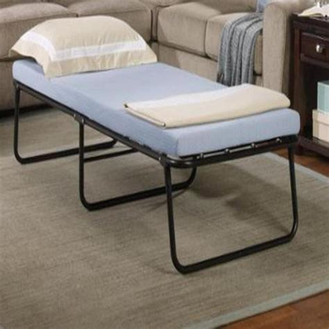 Folding Bed With Mattress New Folding Bed Memory Foam Mattress Roll Away Guest Portable Sleeper Cot Ebay