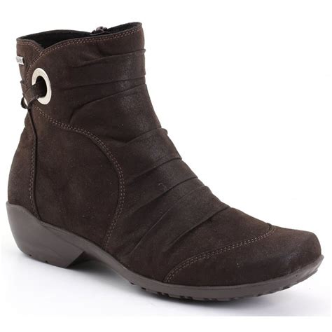 romika boots romika womens citytex 121 moro brown waxy ankle boots